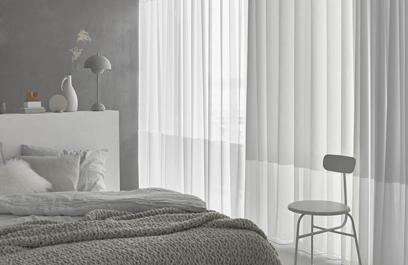 In-between transparante gordijnen slaapkamer