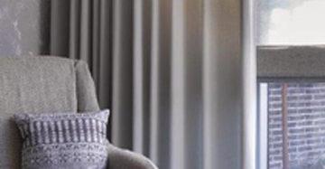 Gordijn In No Limits Stof Gecombineerd Met Vouwgordijn