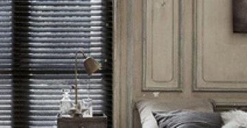 raambekleding voor hoge ramen houten jalouzie zwart in slaapkamer aluminium jaloezie gecombineerd