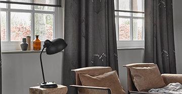 kies je raamdecoratie gordijnen met rolgordijnen